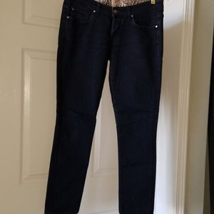 Rich and Skinny pencil jean with leopard trim